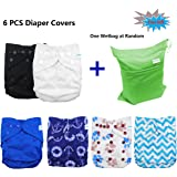 Babygoal Baby Adjustable Reusable Covers, Baby gift sets , Cloth Diaper Cover for Fitted Diapers and Prefolds, 6pcs Cloth Diaper Cover, Baby Gift Sets for Boy 6DCF02