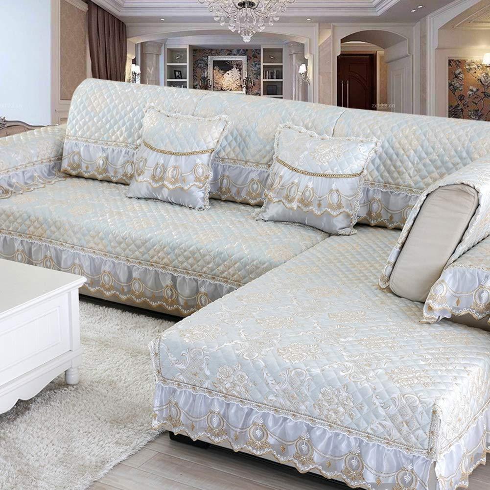 SHUQICCC Jacquard Anti-Slip Sofa Cover Europäischen Stil Vintage Spitze Couch Abdeckung Möbel Protector Sofa Kissen-Multi-Size Sofa Handtuch Heimtextilien, Bad- & Bettwaren Farbe : M, größe : Pillow case45x45cm