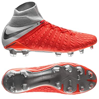 d987bc1b7850 Nike Men's Hypervenom Phantom 3 Elite DF FG Cleats (Light Crimson/Metallic  Dark Grey
