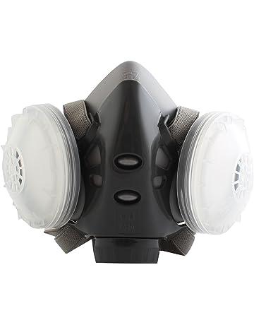 Nouveau Protection Filtre Double Gaz Masque Chimique Gaz Anti Poussière  Peinture Respirateur Masque Visage avec Lunettes ... c7cff7583e19