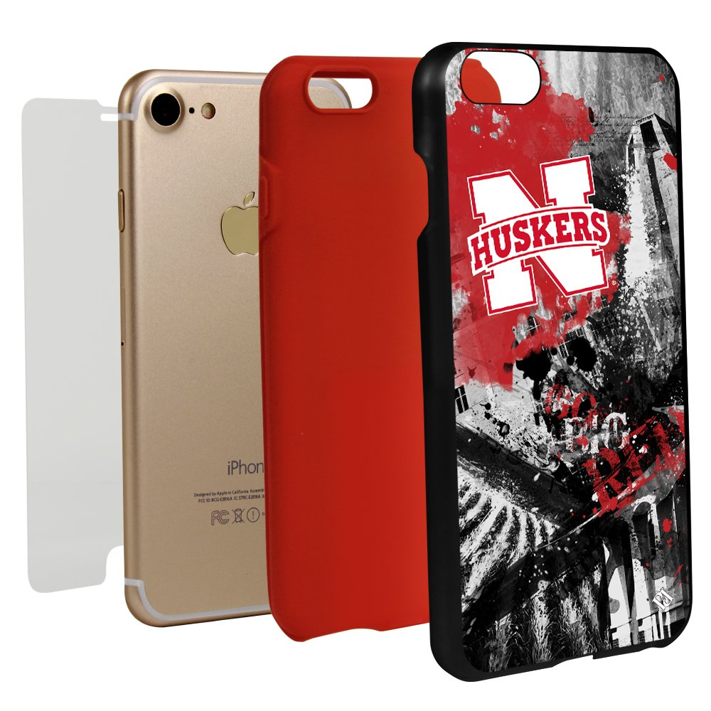 Guard Dog Nebraska Cornhuskers Paulson Designs Spirit Case for iPhone 7/8 with Guard Glass Screen Protector by Guard Dog