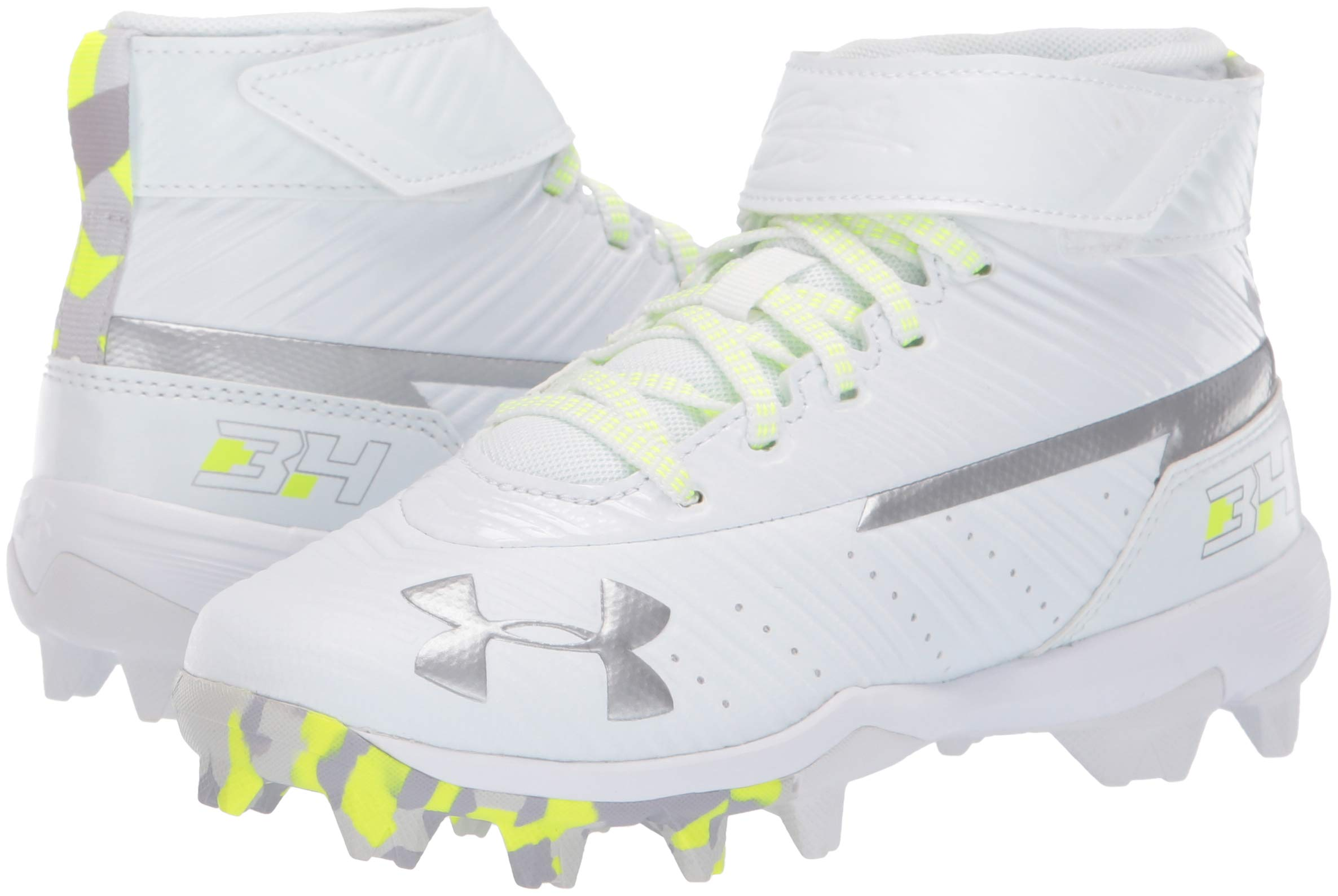 Under Armour Boys' Harper 3 Mid Jr. RM Baseball Shoe 100/White, 1 by Under Armour (Image #6)
