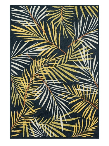 Loloi Rugs HCATHCF05NVML5275 Catalina Collection Indoor/Outdoor Area Rug, 5-Feet 2-Inch by 7-Feet 5-Inch, Navy/Multicolor