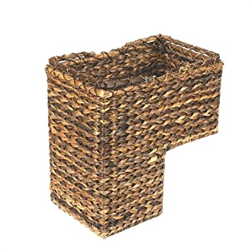 Lovely BRAIDED ROPE STAIR STEP BASKET Great Craftsmanship Handy Step Container