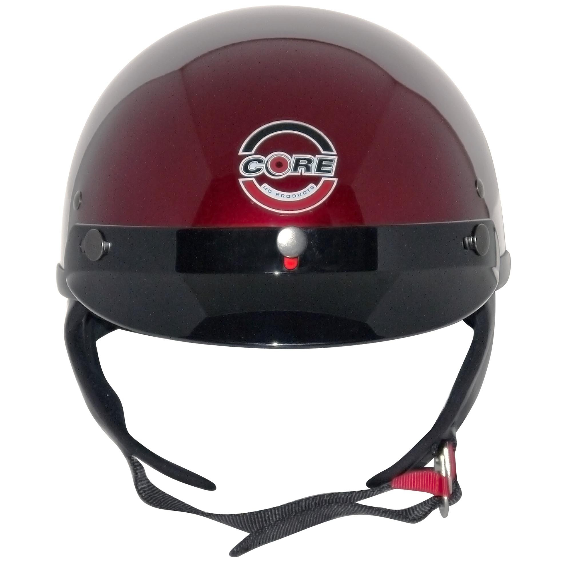 Core Cruiser Shorty Half Helmet (Wine, Medium) by Core Helmets (Image #2)
