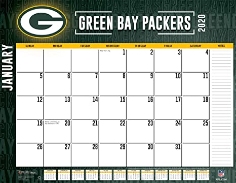2020 Packers Schedule.Amazon Com Green Bay Packers 2020 Calendar Office Products