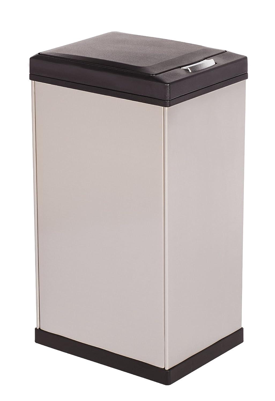 Kamenstein Rectangle Stainless Steel Trash Can, 40-Liter/10.5-Gallon Lifetime Brands 5156332