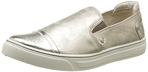 Mustang 1217405 - Zapatos slip-on, Mujer, color Beige (480 Champagne), talla 39: Amazon.es: Zapatos y complementos