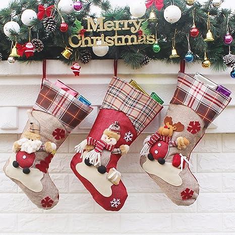 cenblue Classic medias de Navidad para decoración de árbol de – personalizada de adorno decoraciones medias