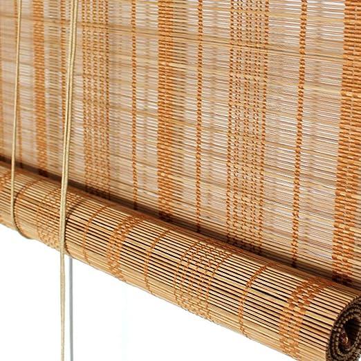 Persiana de bambú Persianas Enrollables Para Exteriores Persianas ...