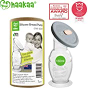 Haakaa Breast Pump with Suction Base and Upgrade Silicone Lid 100% Food Grade Silicone BPA PVC and Phthalate Free (5oz/150ml with Lip)