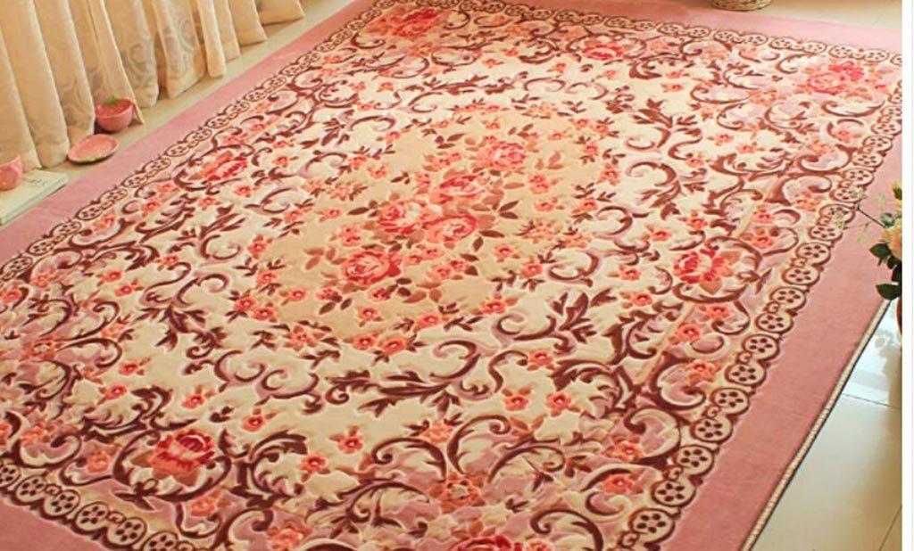 Tappeto Da Salotto Rosa : L&y tappeto rose europee romantico giardino rettangolare tappeto del