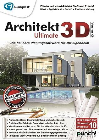 Architekt 3D X8 Ultimate [PC Download]: Amazon.de: Software