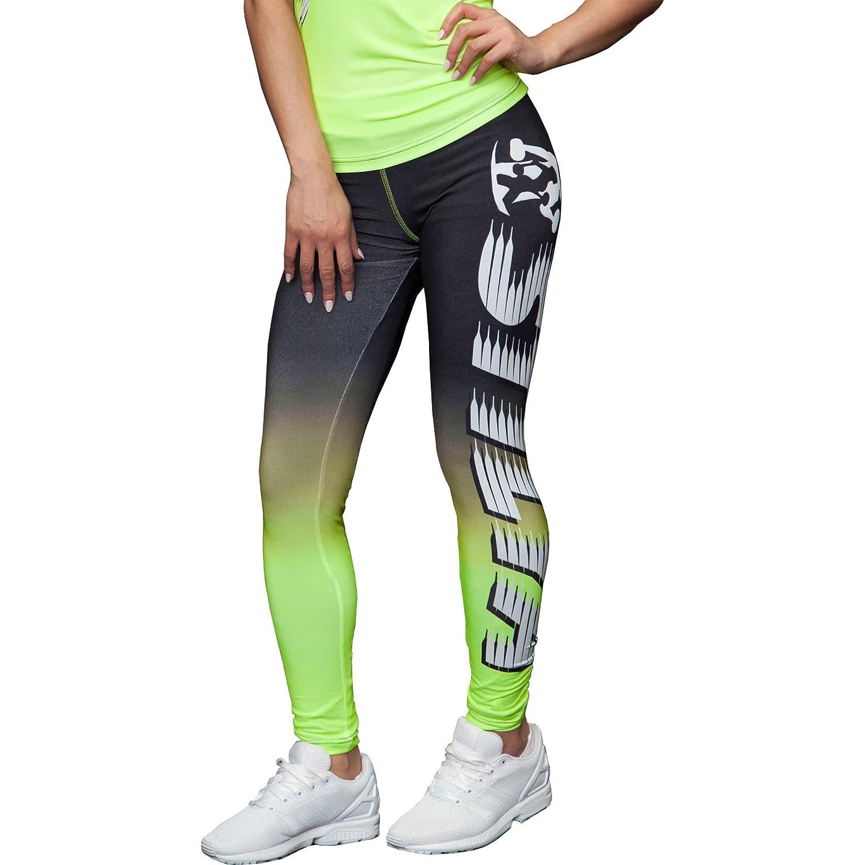 STILYA Sportswear Herren Company Legging Yoga Capri Fitnesspants 1101 neongrün