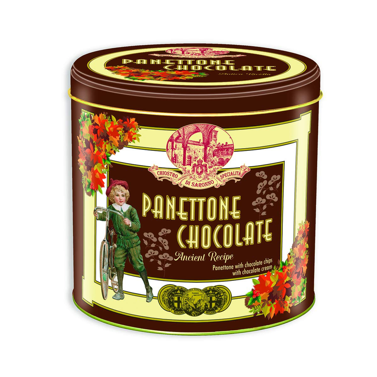 Lazzaroni Chiostro Di Saronno Chocolate Panettone, 1kg Dark Chocolate