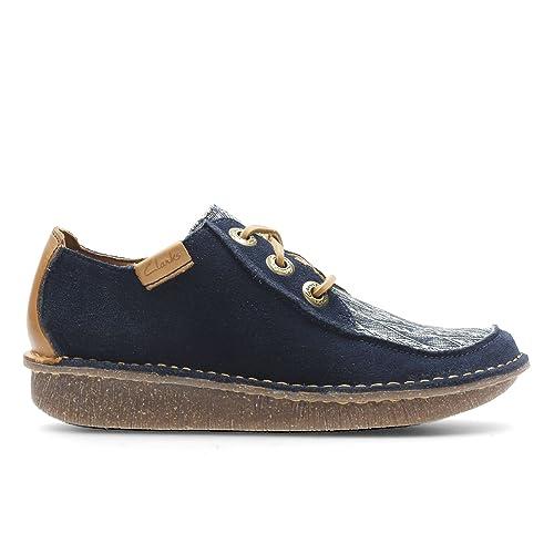 De Clarks Mujer Funny Cordones Azul Zapatos Para Lona Dream UqSGMVpzjL