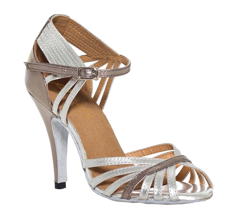 Chaussures à talon bas pour femmes, Minitoo TH018 - Sandales à talon style latin