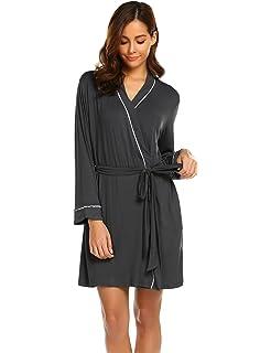 7fd924d7c887 Avidlove Womens Robe Kimono Knit Cotton Light Short Bridesmaids Spa Bathrobe