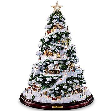 thomas kinkade village christmas artificial tabletop christmas tree by the bradford exchange - Christmas Tree Village