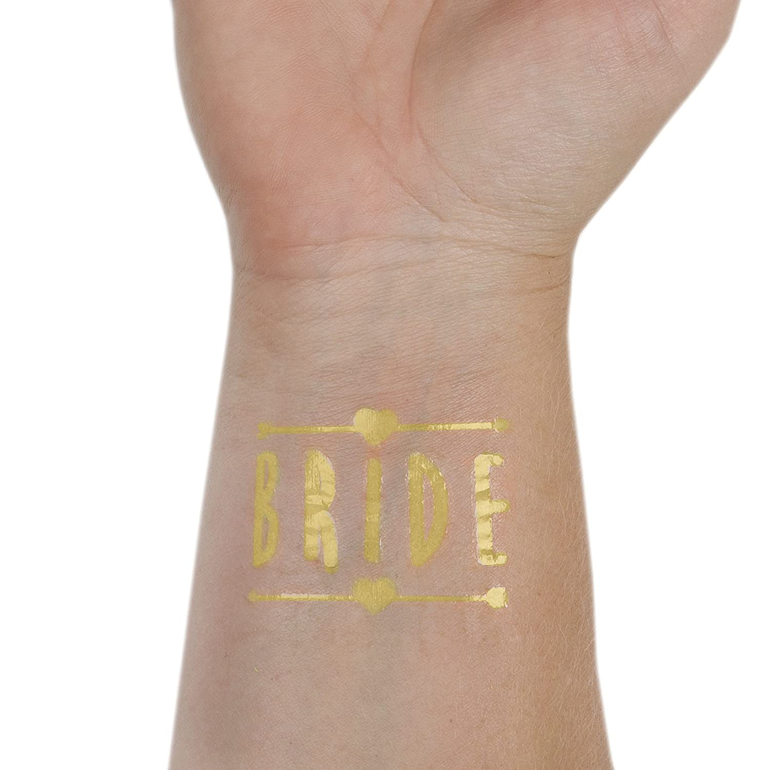 Bride Tribe 16 Tattoos Decorations /& Supplies Temporary Flash Tattoos 16 Glow in The Dark Tattoos Bachelorette Party Favors ASUSA Bachelorette Party Tattoos