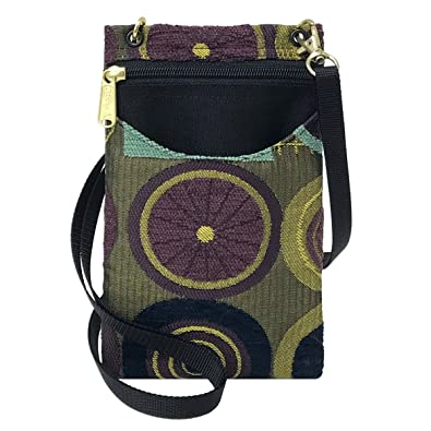 Danny K Women s Tapestry Crossbody Cell Phone or Passport Purse ... 1df40231c