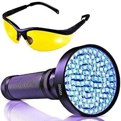 UV lumière noire lampe de poche -100LED UV lumière noire–puissant 390–400nm pour animal domestique lampe de poche d'urine détecteur de détecteur de professionnel