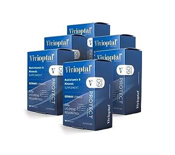Vivioptal Protect for Men 1 Year Supply - Multivitamin & Multimineral Supplement - CoQ10 & Resveratrol