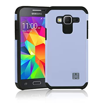 32nd Funda Armadura Rigida Slim Armour con Doble Carcasa para Samsung Galaxy Core Prime - Plata
