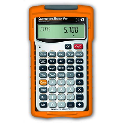 Calculated Industries 4065 Construction Master Pro Advanced Construction  Math Feet-inch-Fraction Calculator for Contractors, Estimators, Builders,