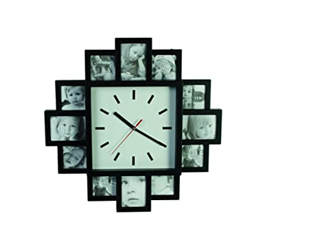 Ootb Wall Clock With 12 Photo Frames Multi Colour 394 X 5 X 394