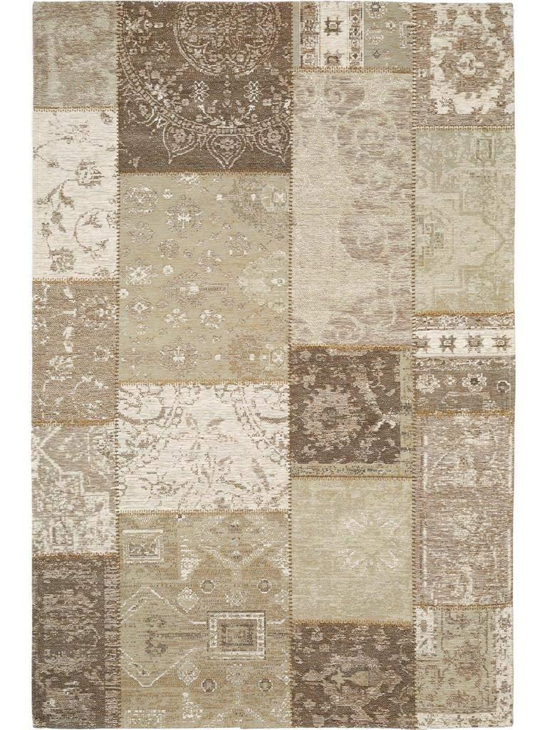 Benuta Flachgewebe Teppich Frencie Patchwork Beige 100x160 cm Pflegeleichter Teppich für Flur und Andere Wohnräume