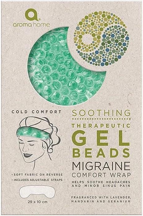 Aroma Home Soothing Gel Bead Migraine Comfort Head Wrap (Seafoam)