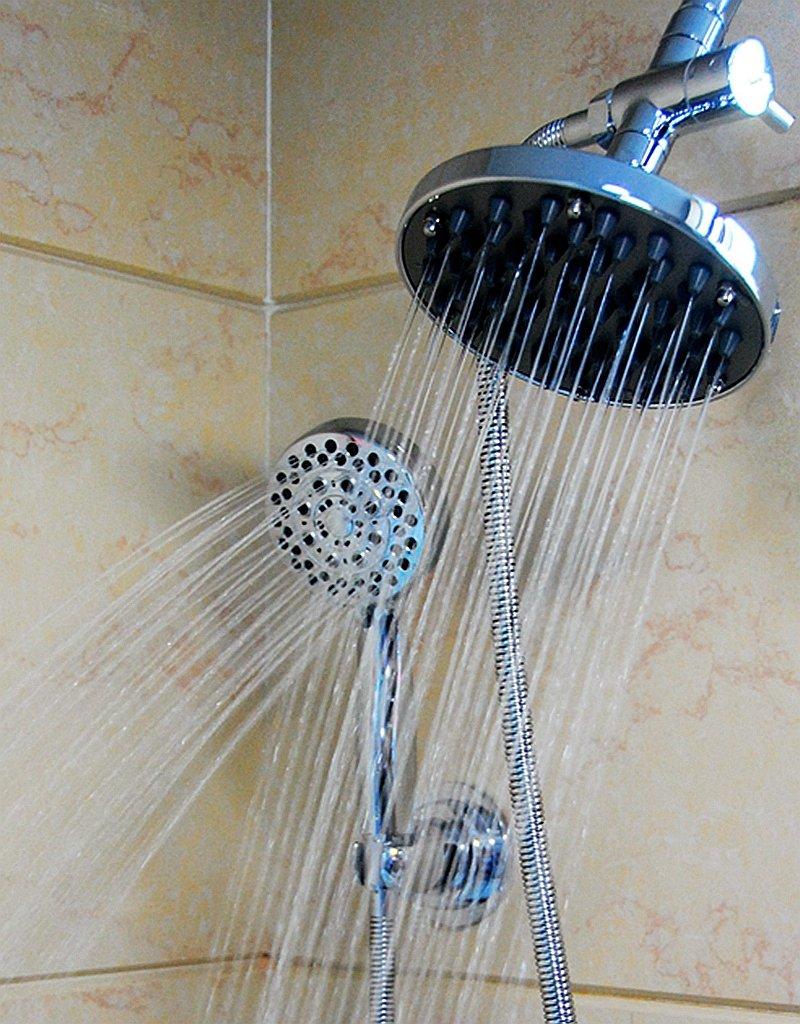 WantBa Ultra-luxury Rainfall/handheld Spa shower Combo with 6 Feet ...
