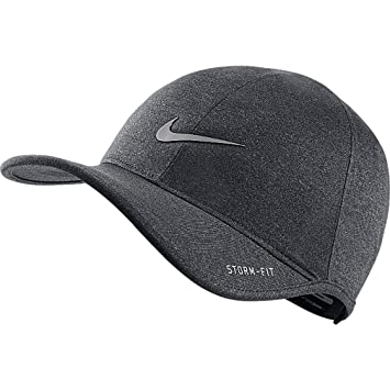 Nike 2015 Ultralight Storm-Fit Cap Black Silver  Amazon.co.uk ... 1dd1dd3e01a