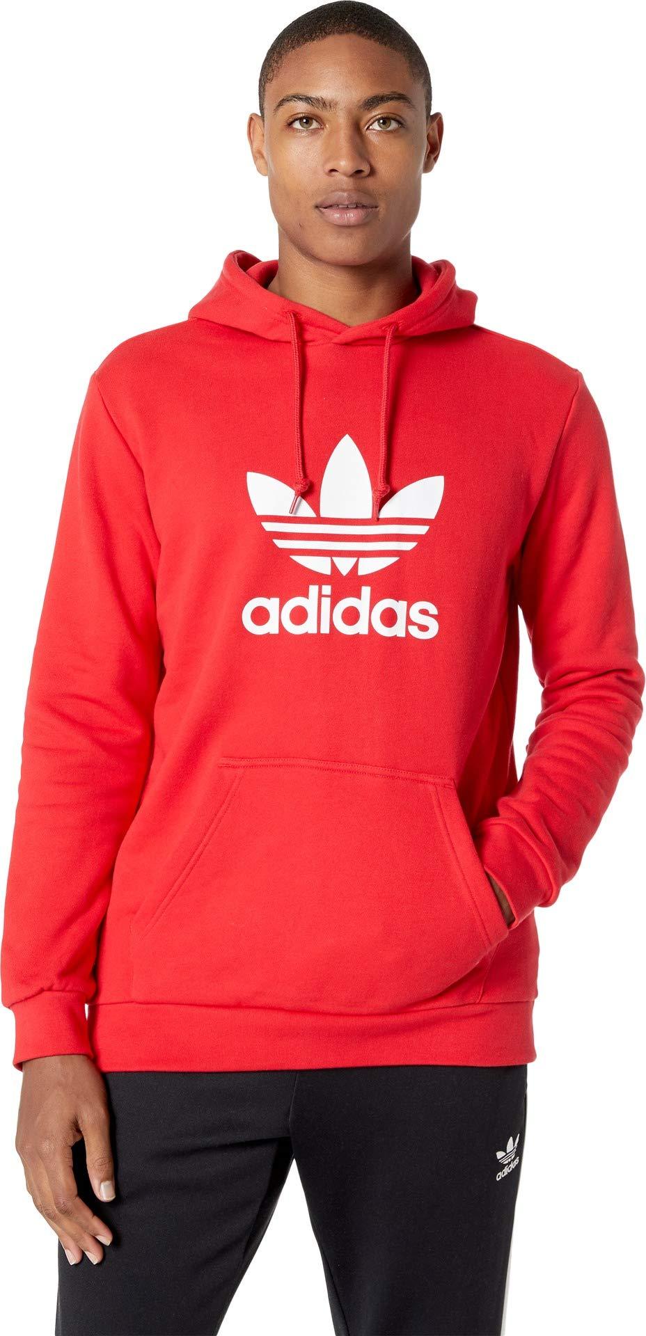 adidas Originals Men's Trefoil Hoodie Collegiate Red Small