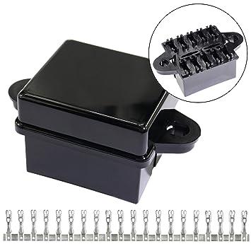 10-slot fuse box atc/ato fuses holder with metallic pins for automotive and  marine engine bay, fuse boxes - amazon canada
