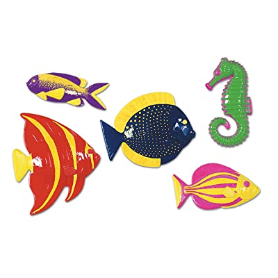 Plastic Fish Party Accessory (1 count) (5/Pkg): Toys & Games