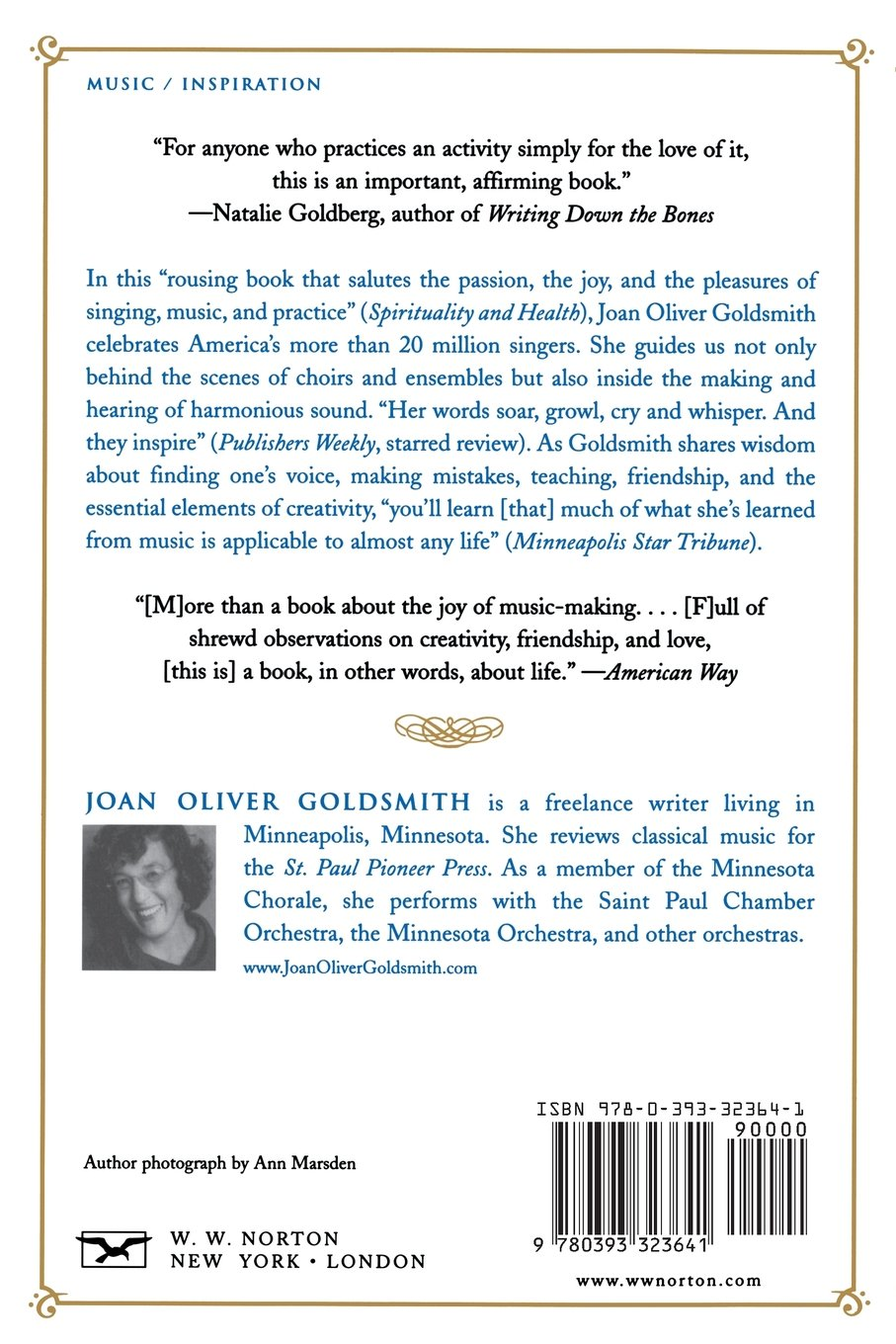 How Can We Keep from Singing: Music and the Passionate Life: Joan Oliver Goldsmith: 9780393323641: Amazon.com: Books