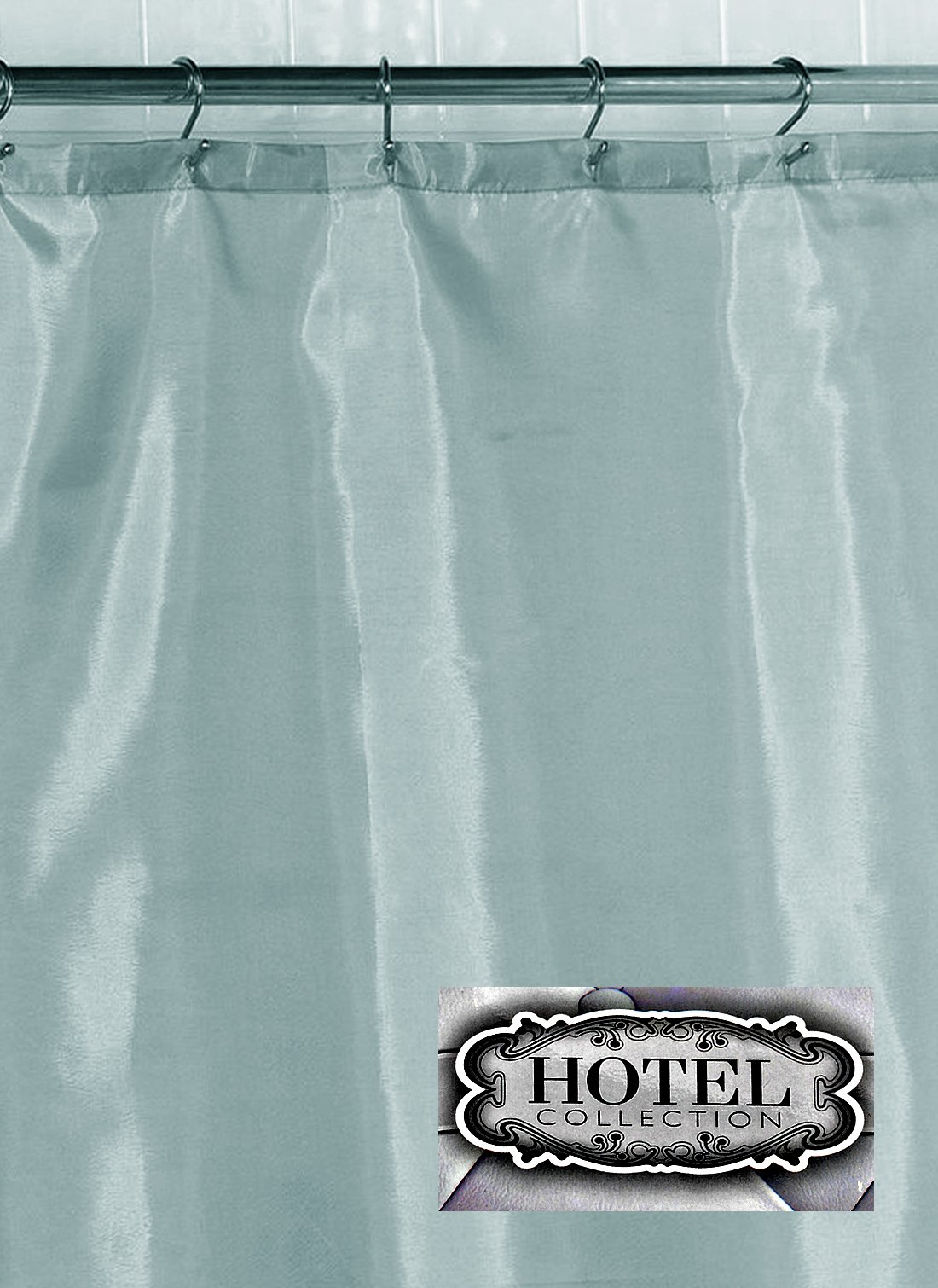 Hotel Fabric Shower Curtain Liner 70'' wide x 72'' long, Spa Blue