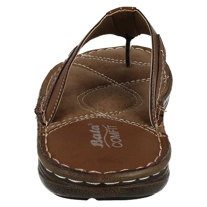 c0eef86520d6 Mens Bata Comfit Toe Post Sandals 861 4601 Brown Size 6 40  Amazon.co.uk   Shoes   Bags