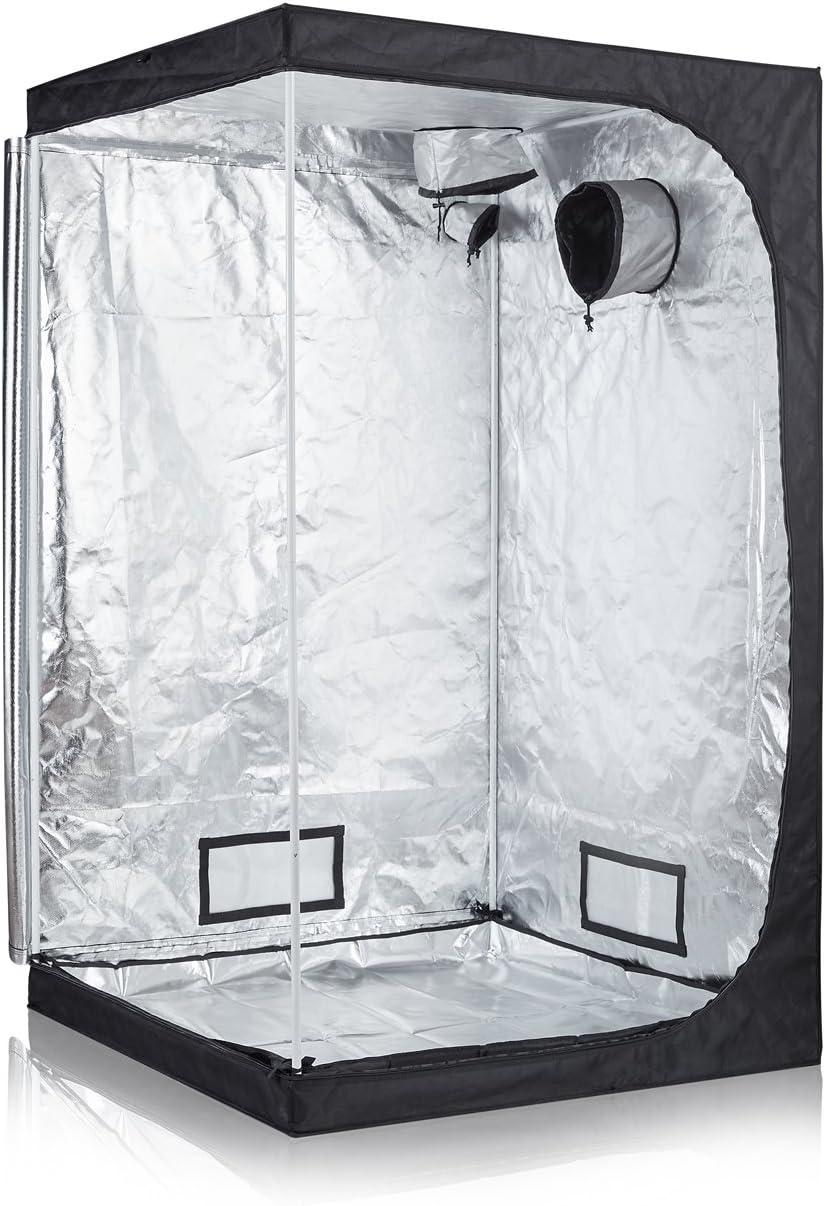 TopoLite Full Range Multiple Sized 48 x48 x80 Indoor Grow Tent Room 600D Mylar Hydroponic Growing Plant w Plastic Corner 48 x48 x80