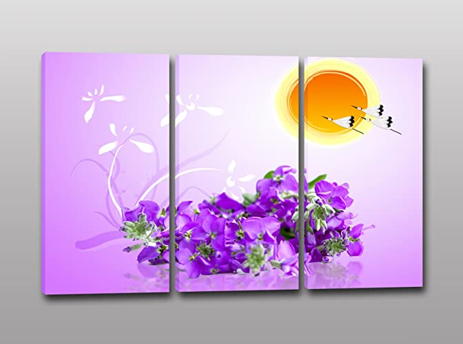 Tris quadri moderni stampa su tela orchidea quadro per arredamento