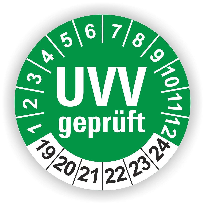 5-1.000 St/ück Pr/üfplaketten Pr/üfetiketten Wartungsetiketten UVV Pr/üfung /Ø 40mm Rot 30 St/ück