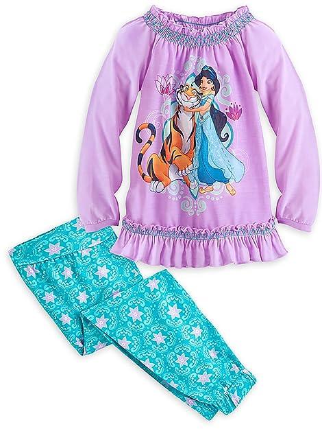 510f70f0d1 Disney Store Jasmine - Aladdin - sotto Le Stelle Pigiama Sleep Set per  Ragazze, Viola
