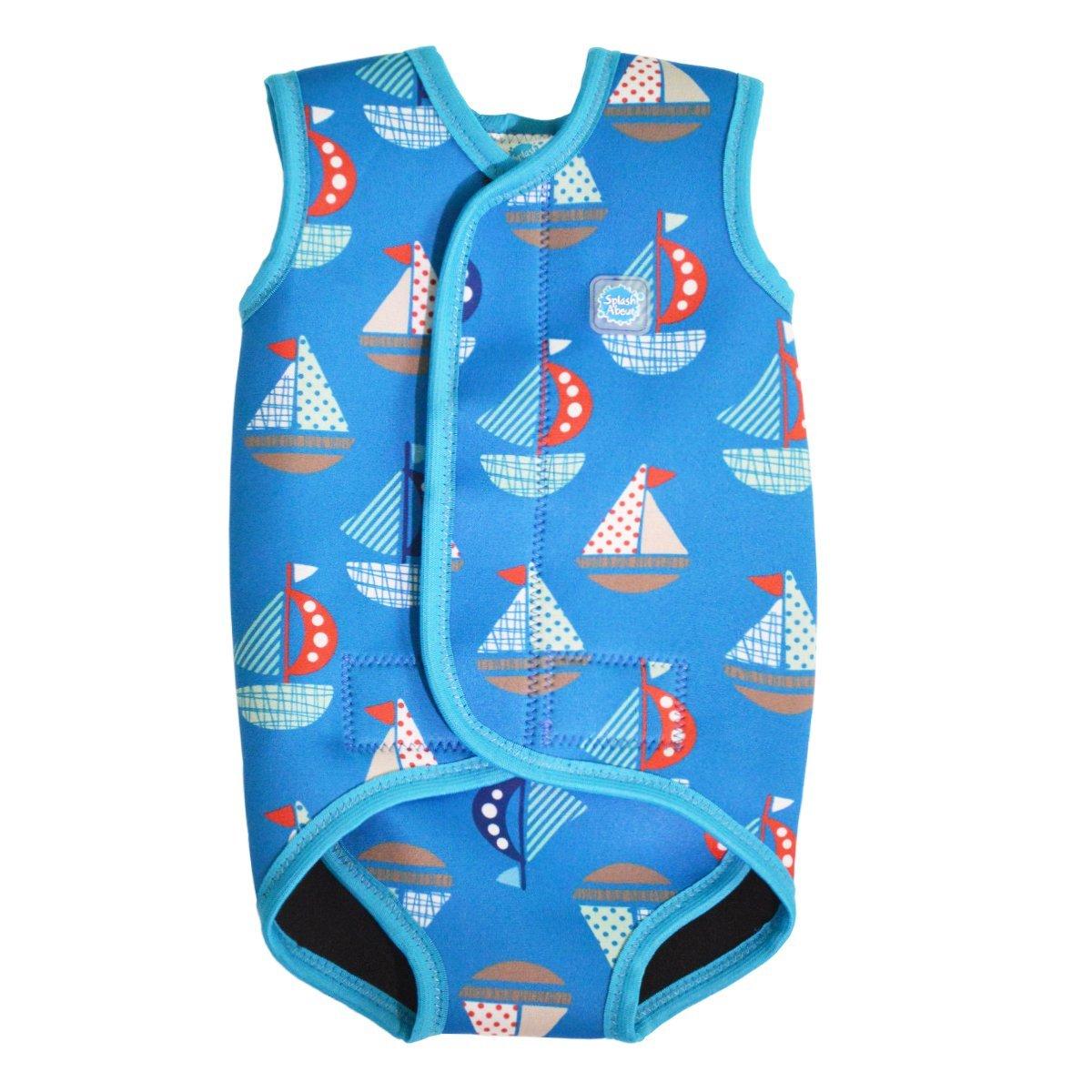 Splash About Children's Boy's Collections Wrap (Neoprene Baby Wetsuit) -Set Sail, Medium (6-18 Months)