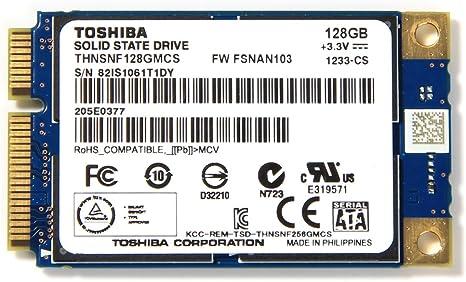 Toshiba THNSNF128GMCS 128GB mSATA PCI-E Unidad de Estado sólido ...