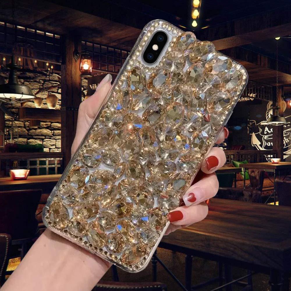 Luxus Glitzer H/ülle f/ür Huawei P Smart 2019 Misstars 3D Bling Diamant Handyh/ülle Transparent Hart PC R/ückschale mit Silikon TPU Rahmen Schutzh/ülle f/ür Huawei P Smart 2019 Silber+Blau