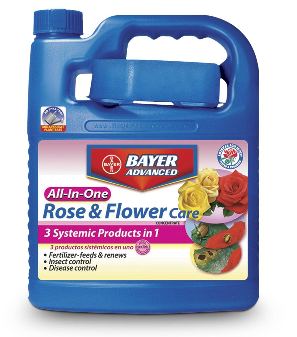 Bayer Advanced 701262 All-In-One Rose and Flower Care Concentrate, 0.5-Gallon