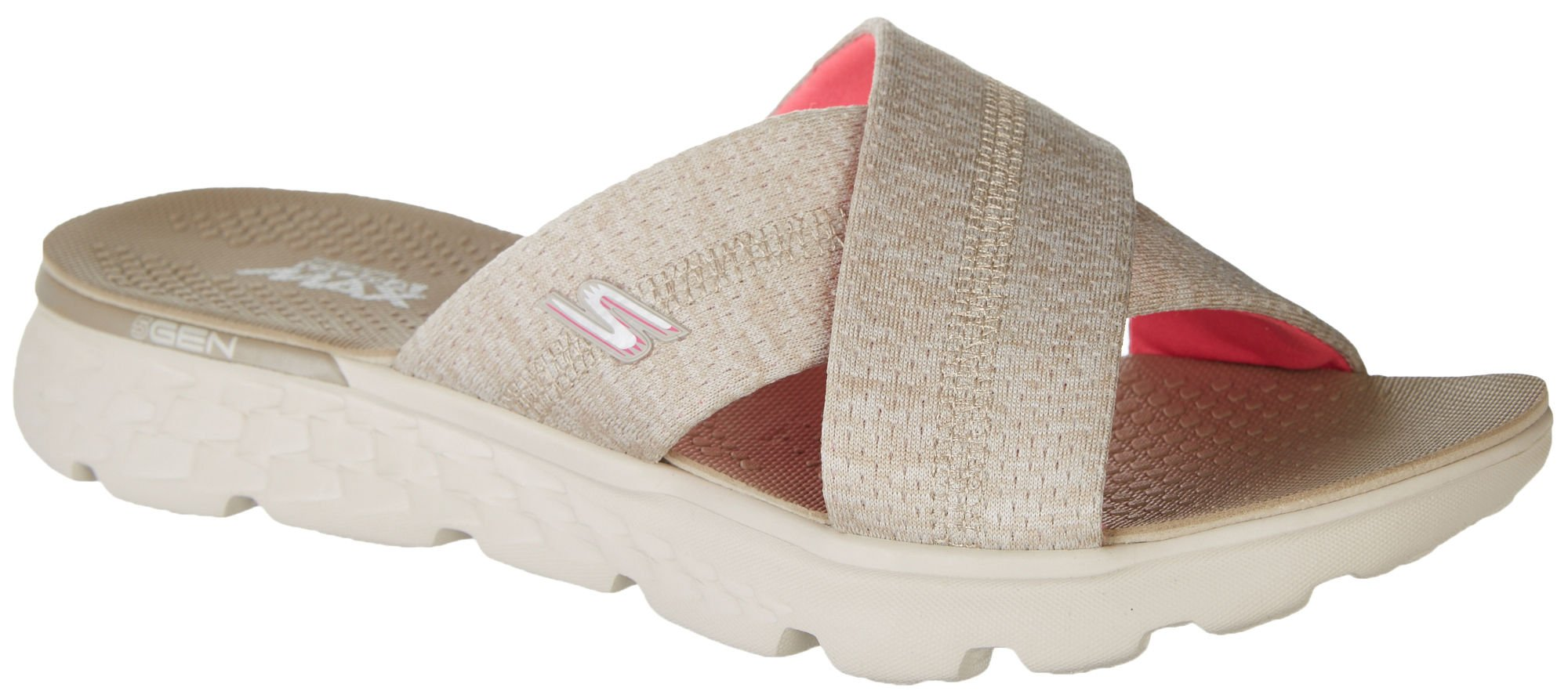 Skechers On The Go 400 Blissful Womens Slide Sandals Taupe 10