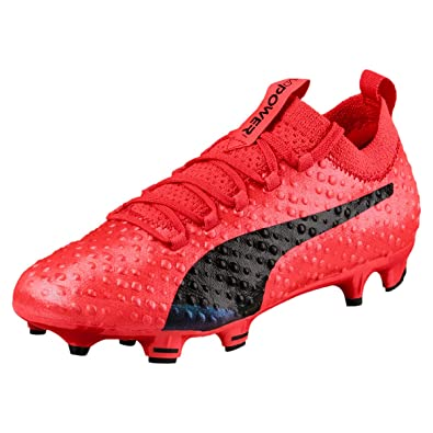 9f52d40e9afd Puma Evopower Vigor 3D 1 FG Kids Football Boots - Fiery Coral Black - Size